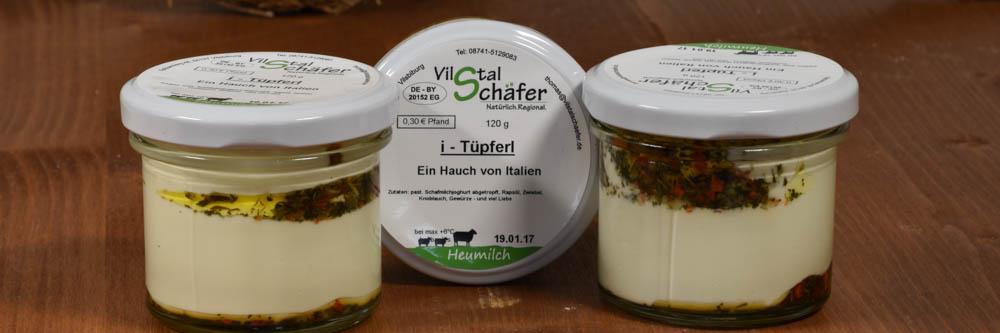 Abgetropfter Joghurt